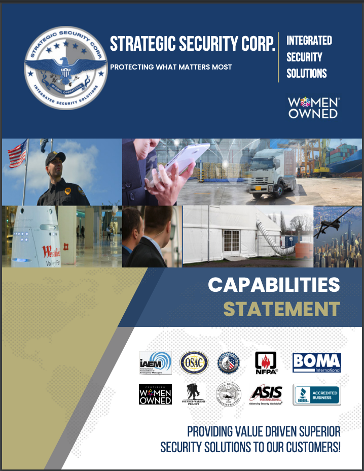 Strategic Security Brochure - cover