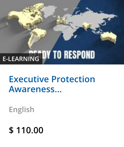Executive Protection Awareness Level