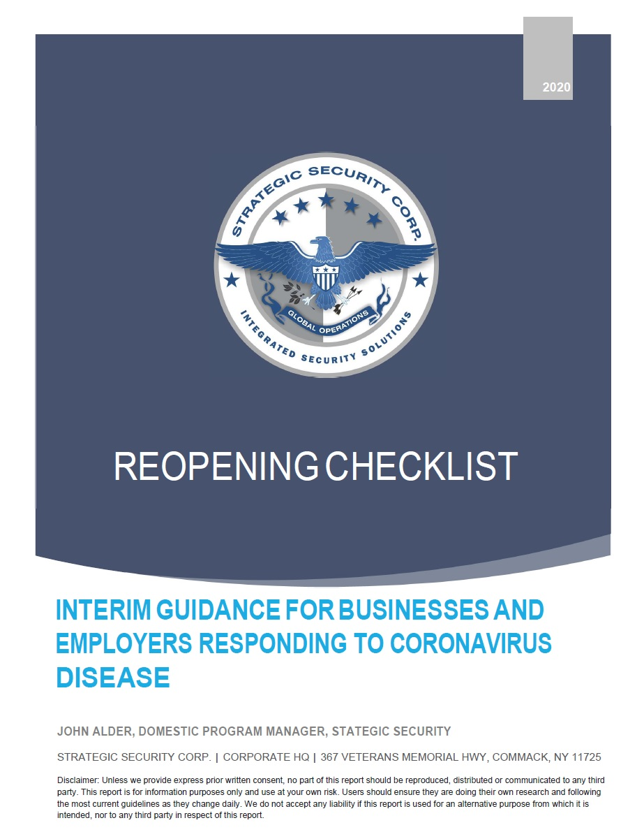 Reopening Checklist
