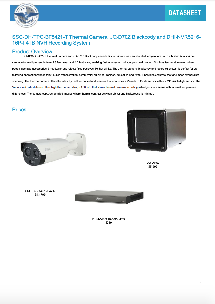 Thermal-Hybrid-Network-Camera-Cover